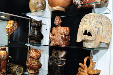 Tumaco  Mask   Hombres de Barro -  La Casona del Museo    in  BOGOTA .Department of Cundimarca. COLOMBIA