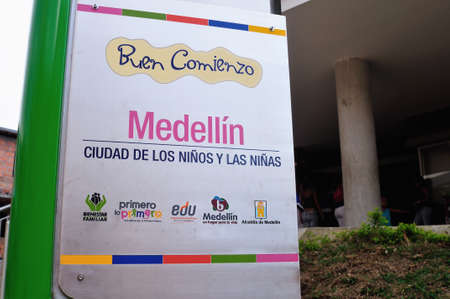 kindergarten Buen Comienzo - MORAVIA district in MEDELLIN .Department of Antioquia. COLOMBIA