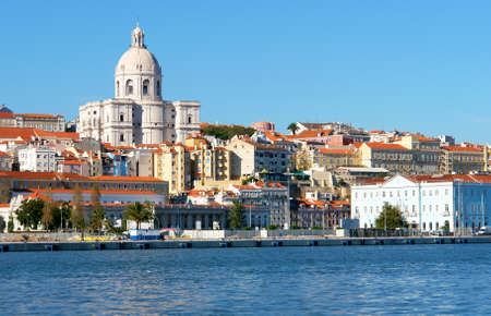 Famous National Pantheon in Lisbon, Portugal  View from Tagus river