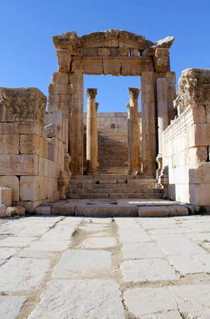 Photo for Ruins of the Greco-Roman city of Gerasa. Ancient Jerash, in Jordan. - Royalty Free Image