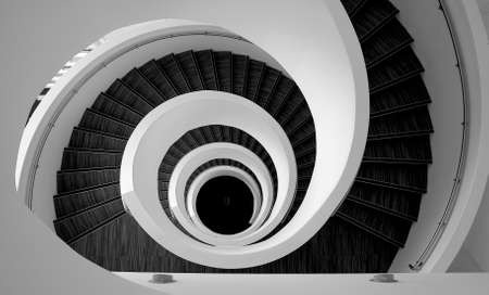 Spiral modern stairs detail pattern
