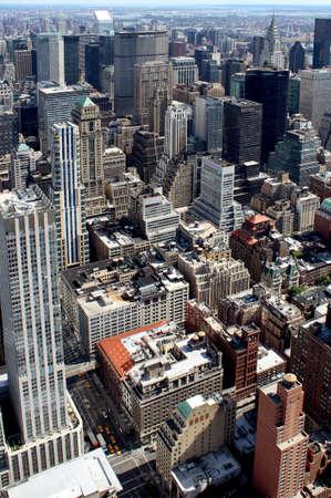 New York City Lower Manhattan Aerial panoramic view NYC