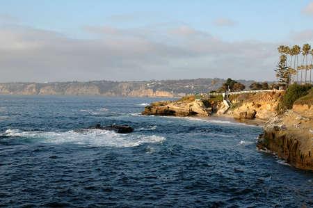 Cliffs on the California coastline in La Jolla San Diego