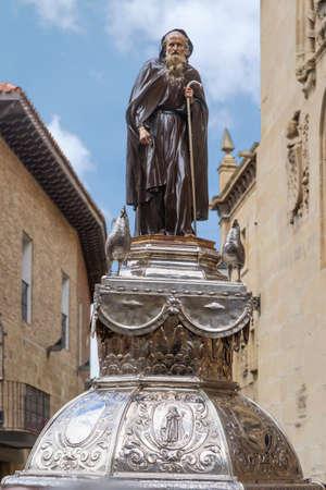 Statue of Santo Domingo de la Calzada, La Rioja. Spain.