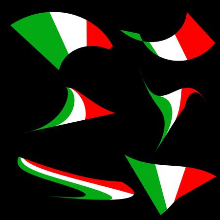 Illustration pour Italian flags collection - Vector - image libre de droit