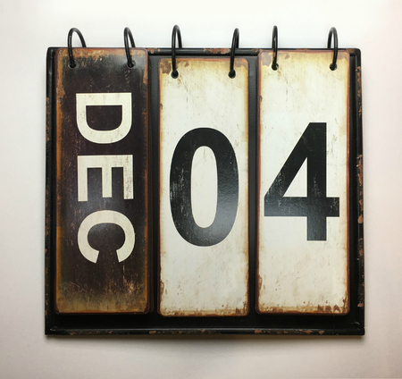 Photo for December 4  with vintage calendar - Royalty Free Image