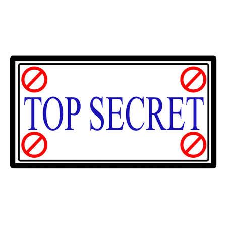 Top secret label, vector illustration