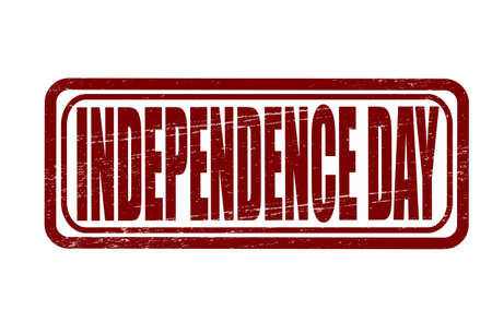 Stamp with text independence day inside, vector illustration