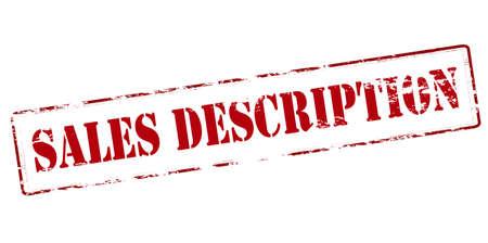 Rubber stamp with text sales description inside, vector illustration`