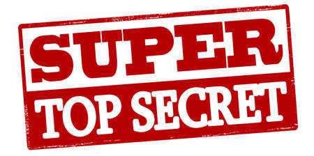 Rubber stamp with text super top secret inside, vector illustration