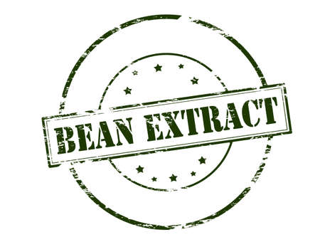 Rubber stamp with text bean extract inside, vector illustration