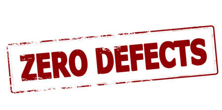 Rubber stamp with text zero defects inside, vector illustration