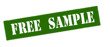 Stamp with text free sample inside, vector illustration