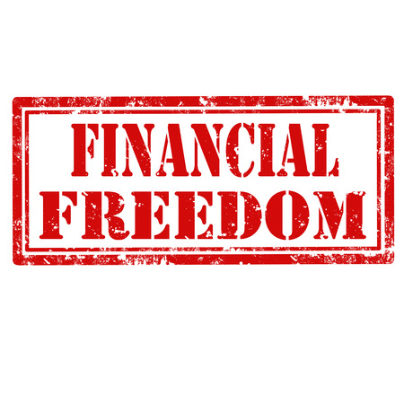 Grunge rubber stamp with text Financial Freedom,vector illustration