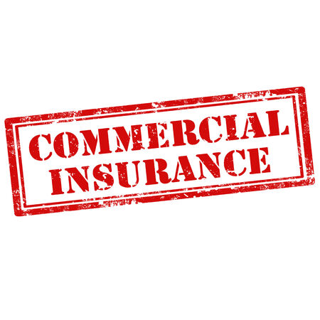 Grunge rubber stamp with text Commercial Insurance