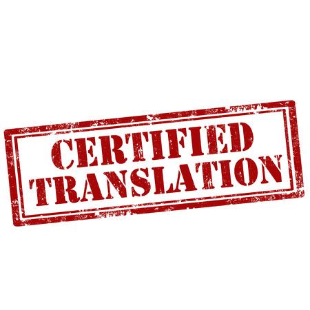 Illustration pour Grunge rubber stamp with text Certified Translation,vector illustration - image libre de droit