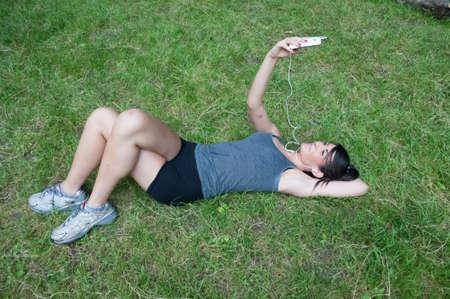 beautiful athlete girl photograph on camaldoli park