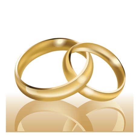Foto de Wedding rings, symbol of marriage and eternal love  - Imagen libre de derechos
