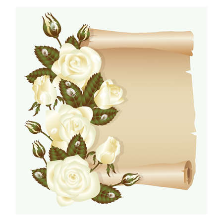 Wedding greeting card, vector illustration