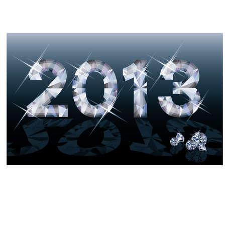 Diamond 2013 New year banner, vector illustration