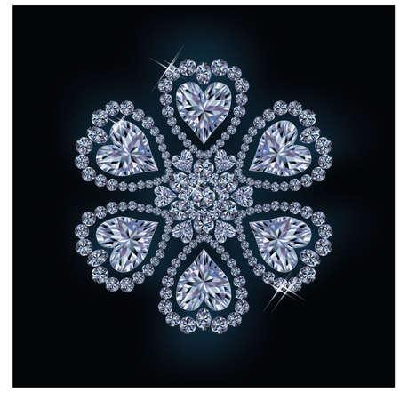 Diamond snow, vector illustration
