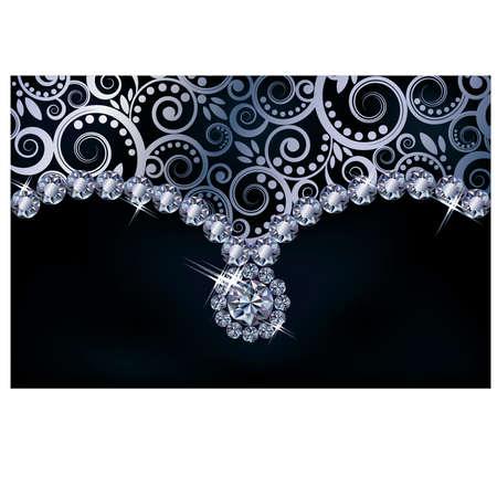Diamond background,  illustration