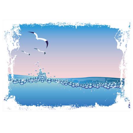 Underwater nature background vector illustration