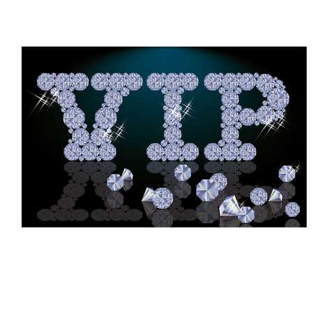 Diamond VIP card, vector illustration