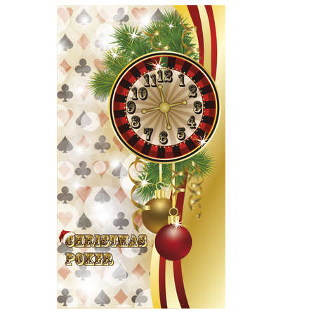 Christmas poker postcard