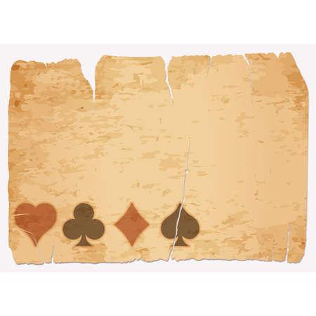 Illustration for Casino poker vintage banner, vector illustration - Royalty Free Image