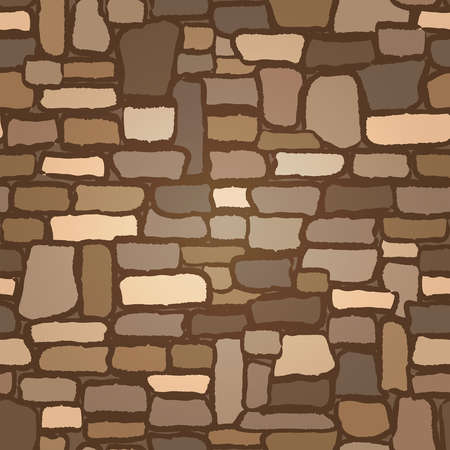 Illustration for Stone Castle Wall background seamless , vector illustration - Royalty Free Image