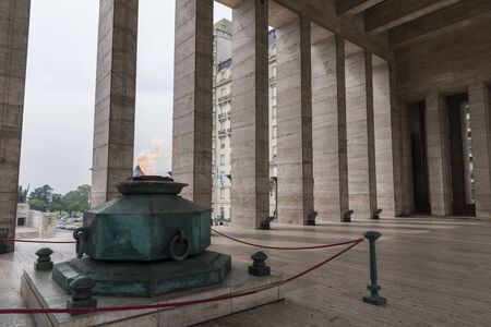 Llama votiva, votive flame, in the Triumphal Propylaeum of the National Flag Memorial, in Rosario, Argentina.