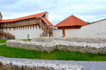 Medieval fortress in the village Feldioara, built by the teutonic knights, 900 years ago, in Transylvania, Romania