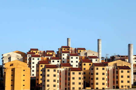 blocks of popular habitation in sao paulo, brazil