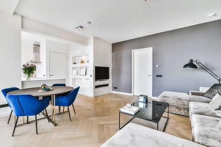 Photo pour Interior of luxury and beautiful living room - image libre de droit