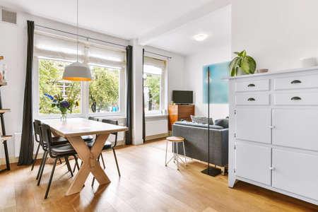 Foto de Modern dining room in a luxury house - Imagen libre de derechos
