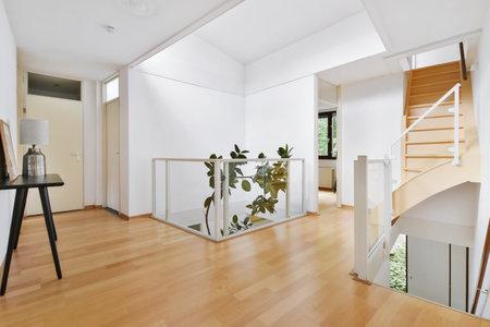 Photo pour Interior of staircase hall of luxury house - image libre de droit