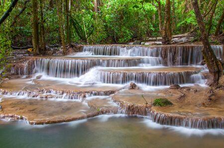 Waterfall in deep rain fores