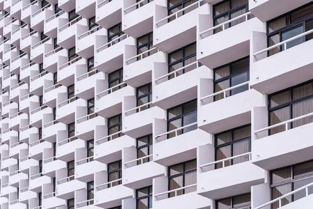 Photo pour balcony of apartment building in city. - image libre de droit