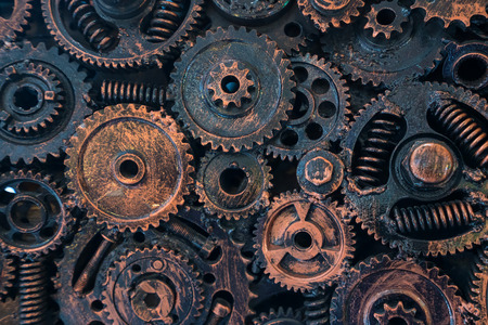 Photo pour abstract metal for background by Mechanical ratchets bolts and nuts. - image libre de droit