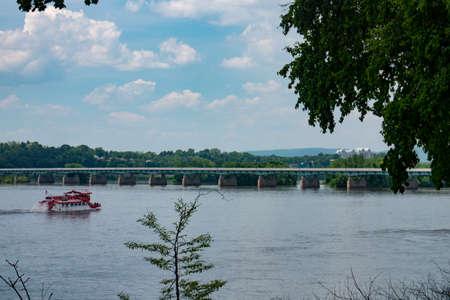 Steamboat Traveling Susquehanna River in Harrisburg Pennsylvania