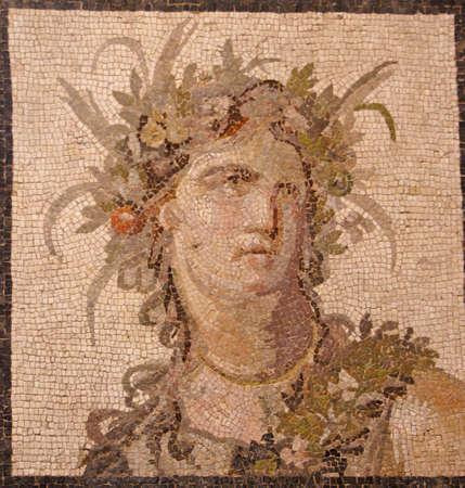 Roman mosaic of Bacchus, god of wine ,Metropolitan Museum of Art,New York City