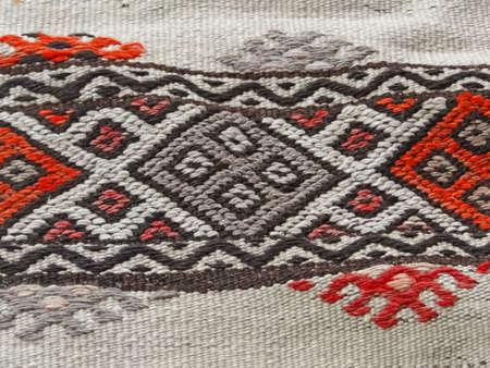 Turkish traditional kilim, geometric patterns   from Anatolia