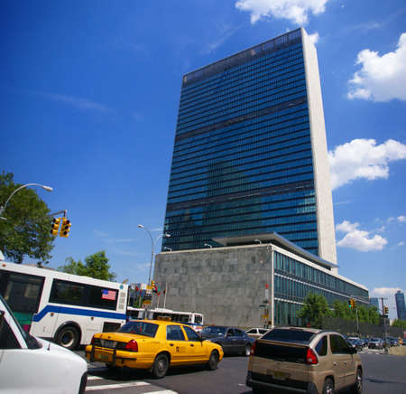 Panorama, United Nations Secretariat and Assembly buildings,New York City