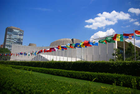 United Nations Secretariat and Assembly buildings,New York City