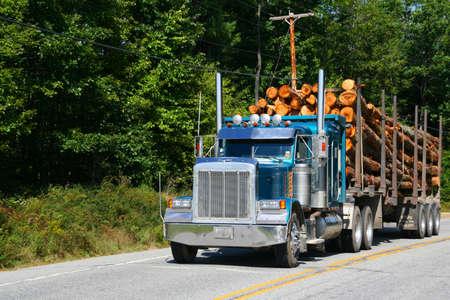 Logging truck,vehicle on highway nearSkoheganMaine