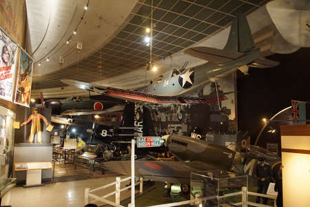 SAN DIEGO, CALIFORNIA - NOV 27, 2017 - British Spitfire fighter plane, Air and Space Museum at Balboa Park in San Diego, California