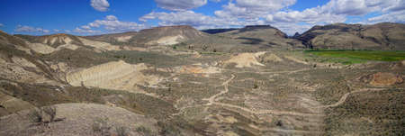 Erosion reveals ignimbrite volcanic ash deposits in central Oregon