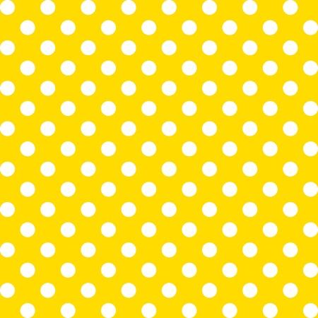 Ilustración de Seamless Pattern, Big White Polka dots on Yellow.  - Imagen libre de derechos