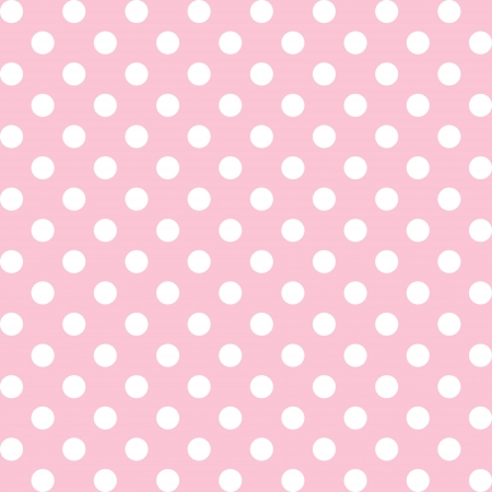Illustration pour Seamless pattern, big white polka dots, pastel  pink background. includes pattern swatch that will seamlessly fill any shape. For arts, crafts, fabrics, decorating, albums, scrapbooks. - image libre de droit